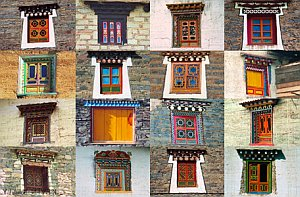окна в Тибете
